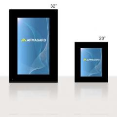 LCD digital media display with built in digital
