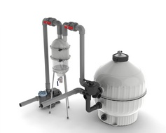Hydrocyclone pre-filter cleaning device