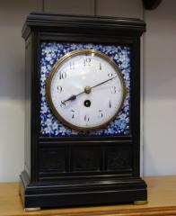 Unusual aesthetic period mantel clock