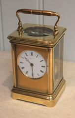 Striking carriage clock by Drocourt