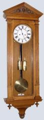 Unusual oak regulator wall clock by Lenzkirch