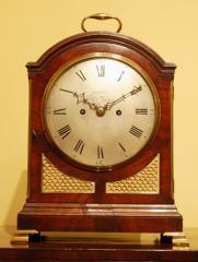 Pad Top Mahogany Bracket clock