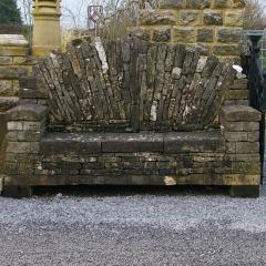 Cotswold Limestone Garden Bench
