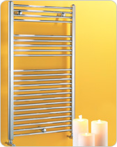 Dolomite Chrome/ Straight Towel warmers