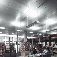 Concealed grid modular ceiling
