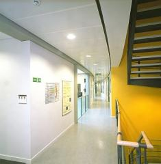 Burgess Hook-On/Lay-On system of metal ceiling