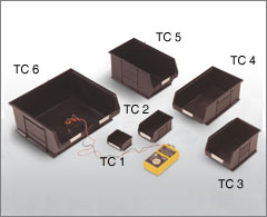 Black Conductive Storage Containers