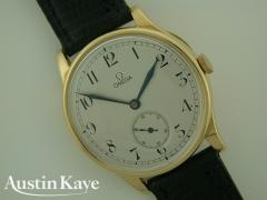 Gents Omega Manual Wind 18ct Gold on Strap