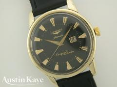 Gents Longines Conquest Calender Automatic Gold