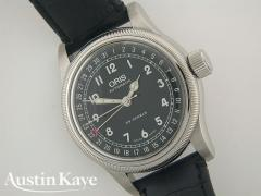 Gents Oris Big Crown 39mm black dial steel Automatic on strap