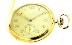 FULL HUNTER POCKET WATCH - 9CT ROLLED GOLD
