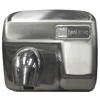 Hand dryer Brushed chrome