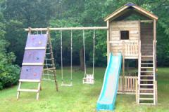 Gate Lodge wooden Climbing Frame with Swing Arm