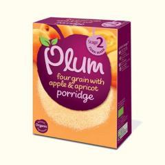 Four grain with apple & apricot porridge