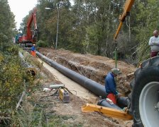 Pre-insulated steel pipe