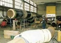 Pre-insulated steel pipe-in-pipe