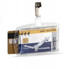 Dual Security Pass Holder With Clip For 2 ID Cards