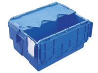 Attached lid distribution container 400x300x222,