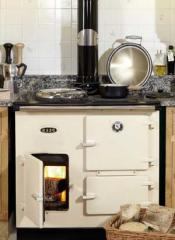 Woodfired cast iron range cooker