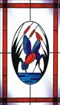 Stained and bevelled decorative glass