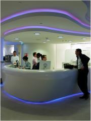 Bespoke fibreglass reception desk