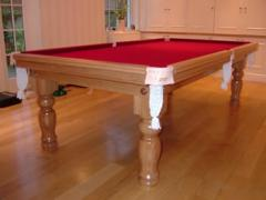 Royal Snooker Table manufactured in Oak Wood with