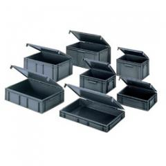 European stacking boxes with lids