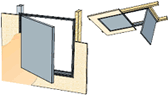 Single or double leaf - Hinged Ceiling Access