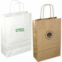 A4 Kraft Bag White and biscuit