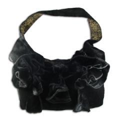 Black Velvet Corsage Bag