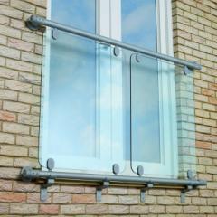 Aluminium Rail Glass Juliet Balcony