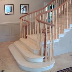 Wooden curved handrails