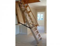 Sandringham Electric Folding Wooden Stairway