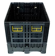 Folding large containers