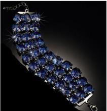 Avon 3 Strand Bracelet Blue