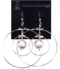 Jinny's Double Circle Hanging Earrings