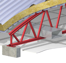 Lightweight roof beams up to 40m span