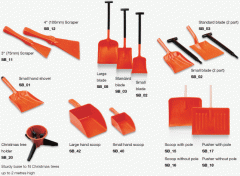 Harold Moore range of Snowburner shovels, scoops