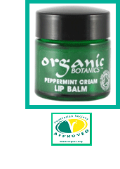 Organic Peppermint Cream Lip Balm 9g
