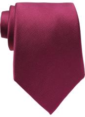 Fuchsia Plain Tie