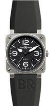 BR 03 92 Automatic Black Dial Steel Case BR-035