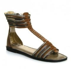 J Shoes Estelle Brown Gladiator Sandals