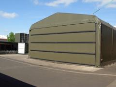 11.1m (36ft) Span Vehicle Maintenance Workshop: Heli-Door