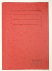 Railex Square Cut Folder, Ruby
