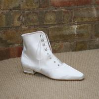 Victorian flat wedding boot