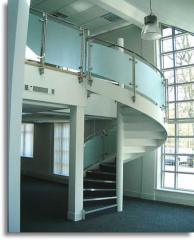 Oval section aluminium handrail with twin