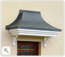 Curved Lead - door entrance canopy & Visors for facade in Tamworth online-store Stormking Plastics ...