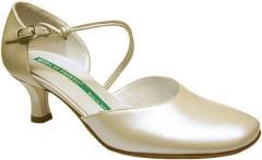 Vivienne, pearlised leather bride/bridesmaid shoe
