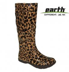 Earth Elite Brown Leopard Boot