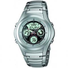 Casio Black Dial Stainless Steel Strap Edifice